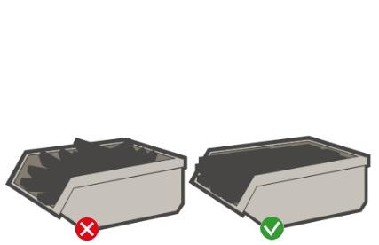 Containers gelijkmatig laden
