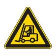 Gevaar voor rondrijdende transportvoertuigen