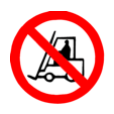 Verboden voor transportvoertuigen