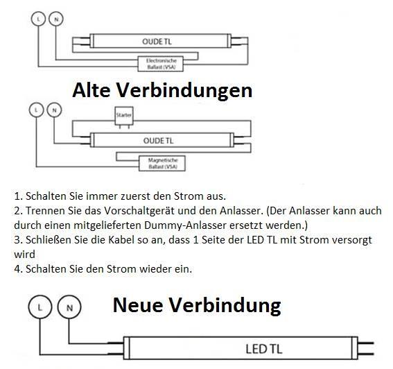 Led tube 1200mm 17 watt 4000 kelvin 2.100 lm