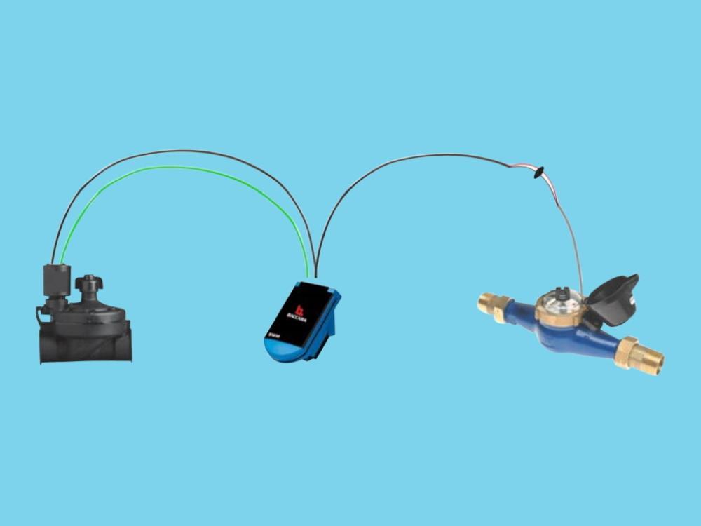 Autom. volume afsluiterset - 7 m3/u - 1 puls/L - 1
