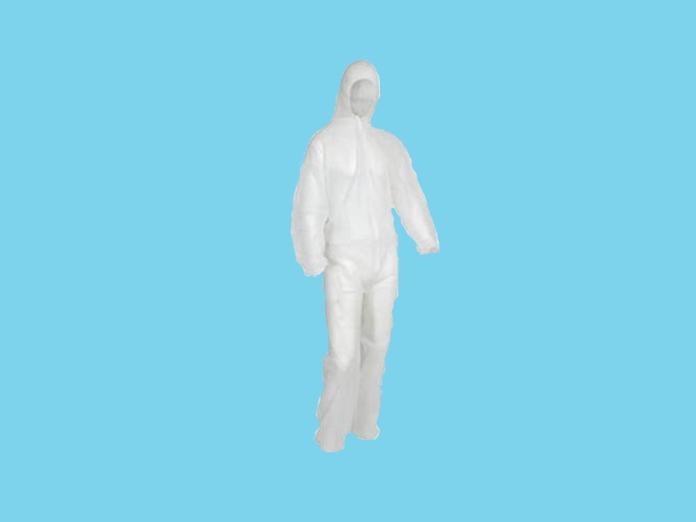 Gastenoverall polypropyleen [non-woven] XXL wit
