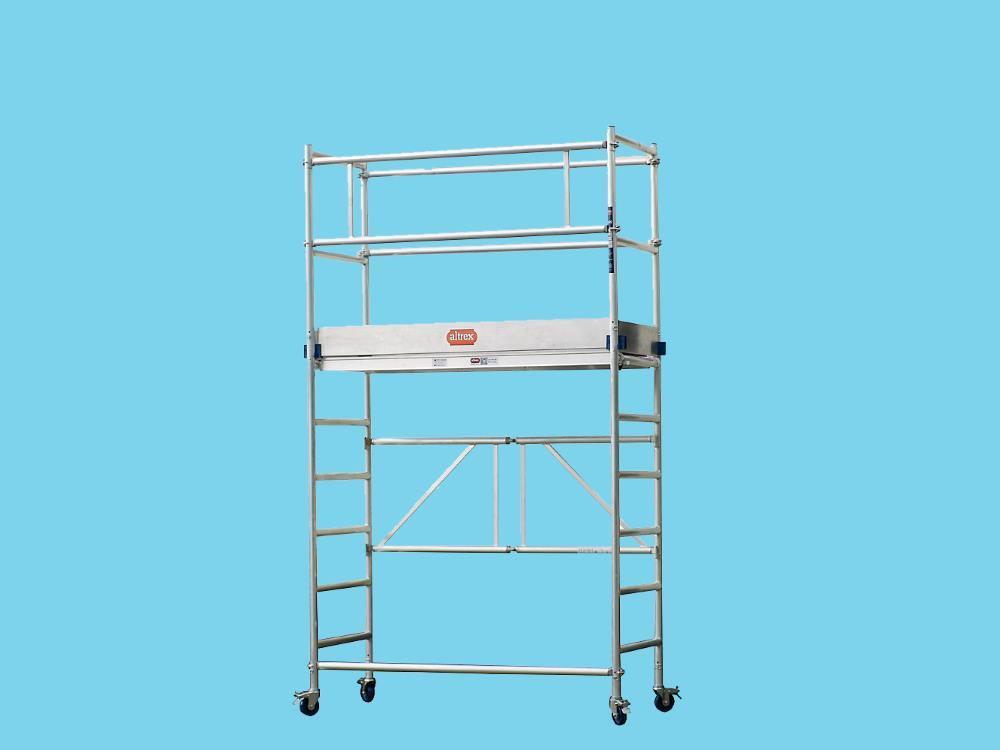 Vouwsteiger aluminium 1,55 x 0,6m 2 modules