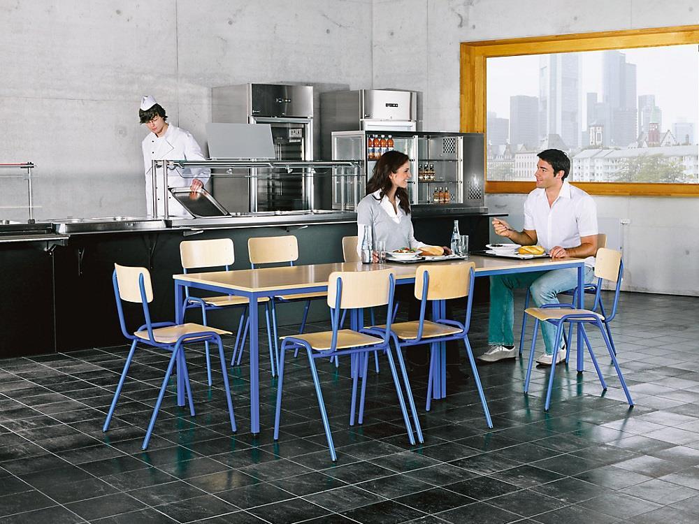 Tafel met 4 stoelen lichtgrijs