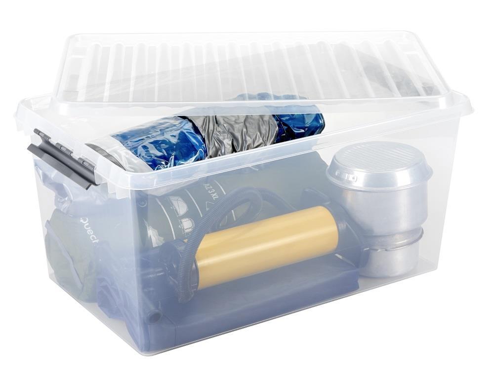 Opbergbox, transp/metal 120L (2 stuks)
