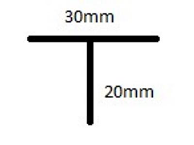 T staander aluminium 150cm 20sl excl. dop
