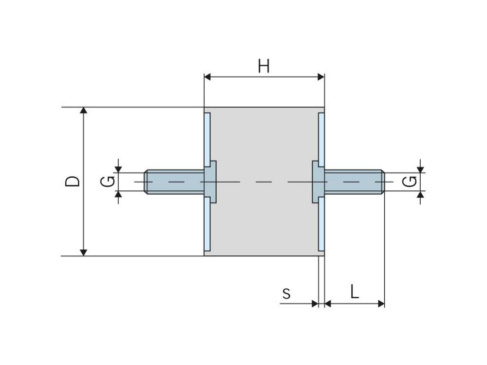Trillingsdemper 40x30mm M8x23mm type A Robocar (Type 48)