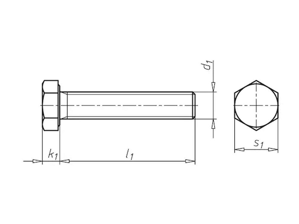 Elektrisch gegalvaniseerd 8.8 tapbout M10x16 mm