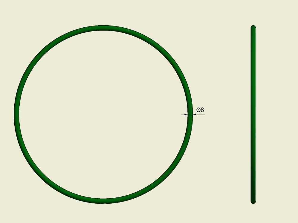 Rondsnaar 8mm L=860 (ontbladeraar)
