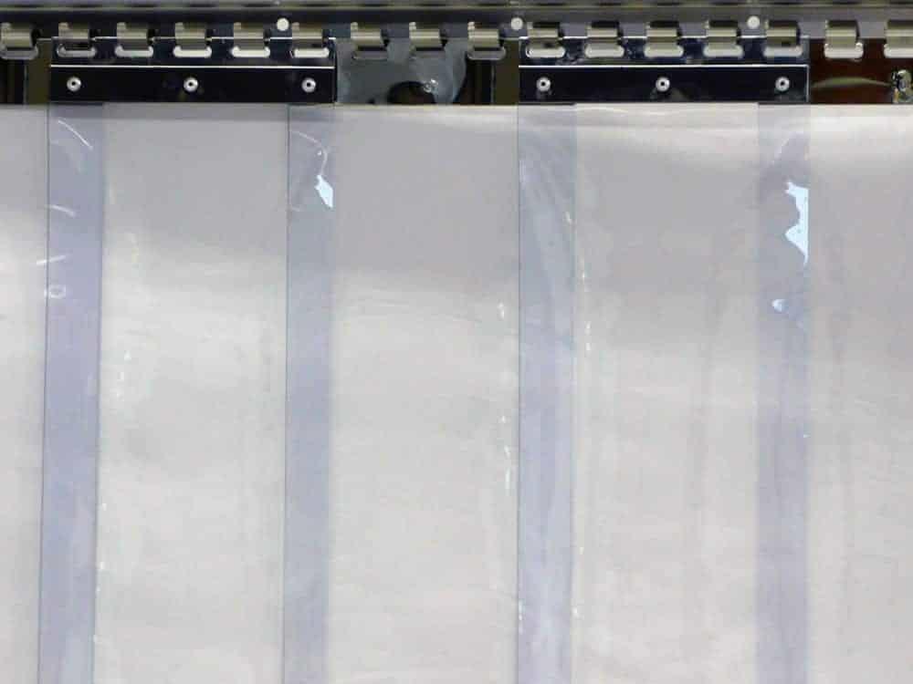 PVC strook (gordijn) 200x2mm helder per 50 mtr