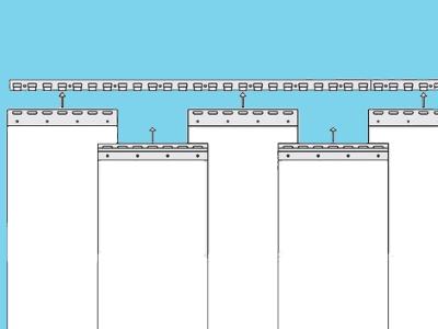 PVC strook (gordijn) 400x4mm helder per 50 mtr