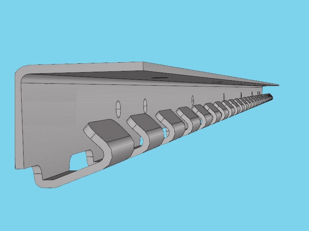 Inhaakprofiel stroken RVS 1230mm