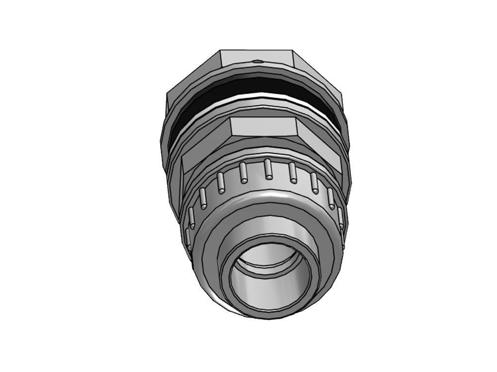 Tankdoorvoer + koppeling 20mm x 1