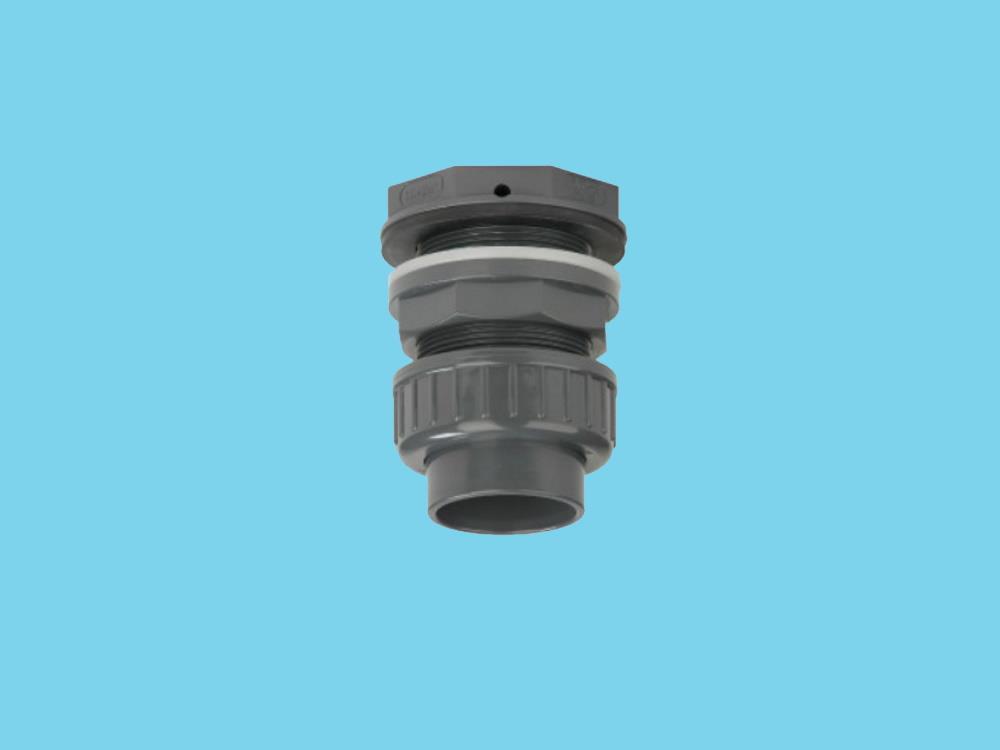 Tankdoorvoer + koppeling 40mm x 2
