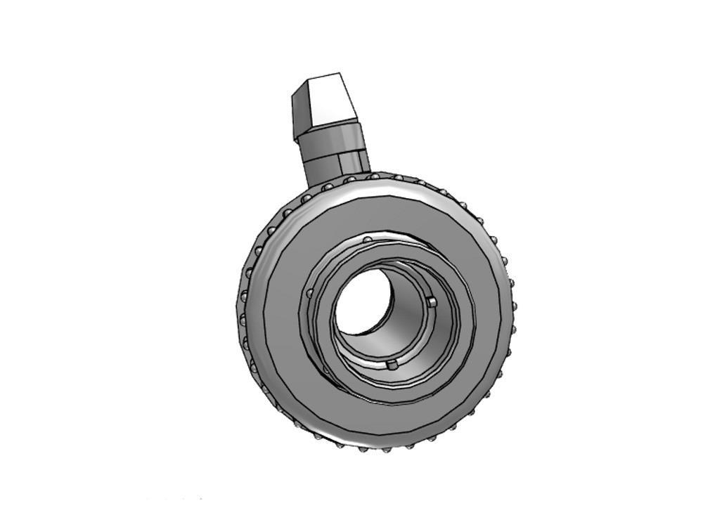 Kogelkraan type: eil 50x50mm viton® dn40 pvc