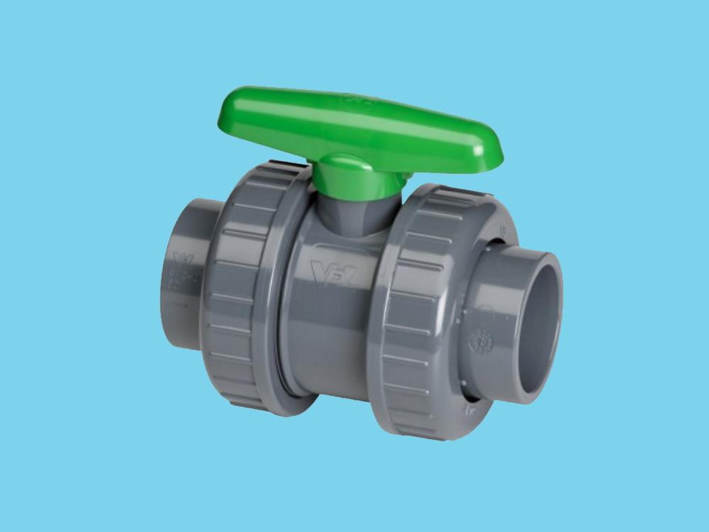 Kogelkraan type: dil 63x63mm viton® dn50 pvc