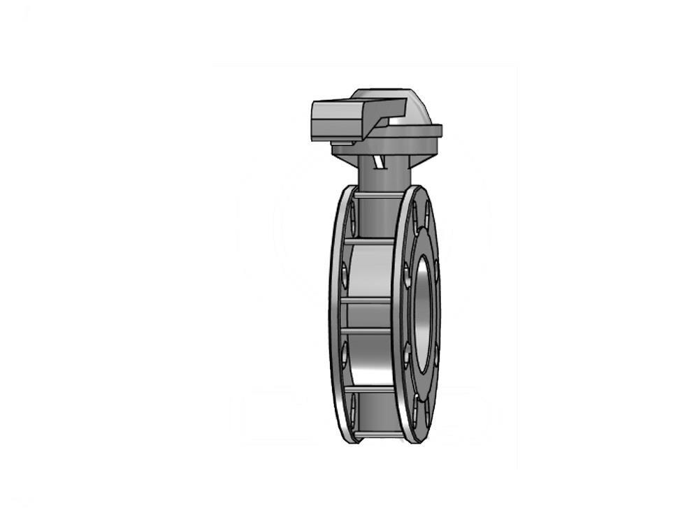 Vlinderklep 140mm / dn 125