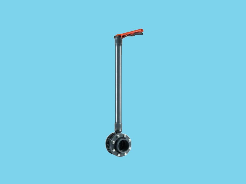 Vlinderklep dn65 + kit 75 x 75mm + 1000mm