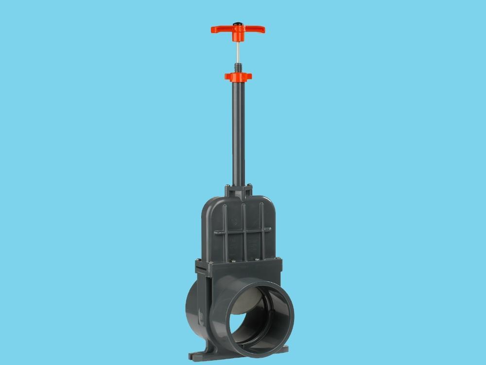 Schuifafsluiter dil 110 (rvs) verloop 500 mm