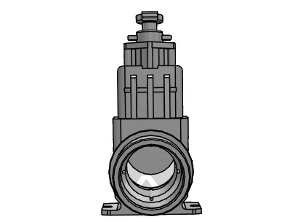 Schuifafsluiter dil 110 (rvs) verloop 1.500 mm