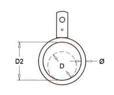 Ring enkel lip voor buis 51mm (25 stuks)