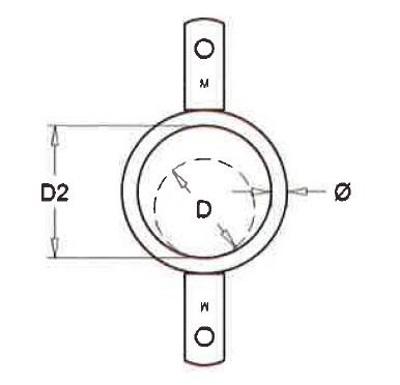 Ring dubbel lip voor buis 51mm, 25 stuks