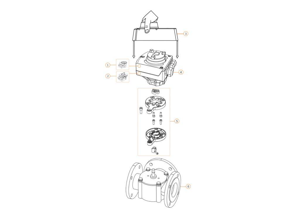 Siemens ASZ7.5/1000 Potentiometer 0-1000 Ohm SA31/SA81