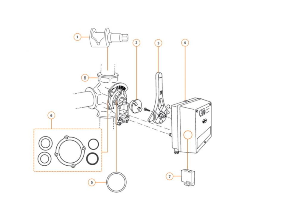 Centra drieweg mengkraan DR 50 GFLA - DN 50mm