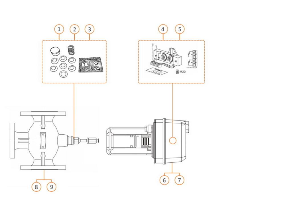 Honeywell drieweg mengklep 65mm