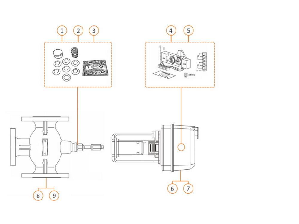 Reparatieset 12mm asafdichting Honeywell afsluiter V5015A