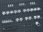 Gereedschapshouder voor perforatieplaat, 33-delige set