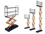 Buisrailwagen BENOMIC, drievoudige hydraulische schaarwagen